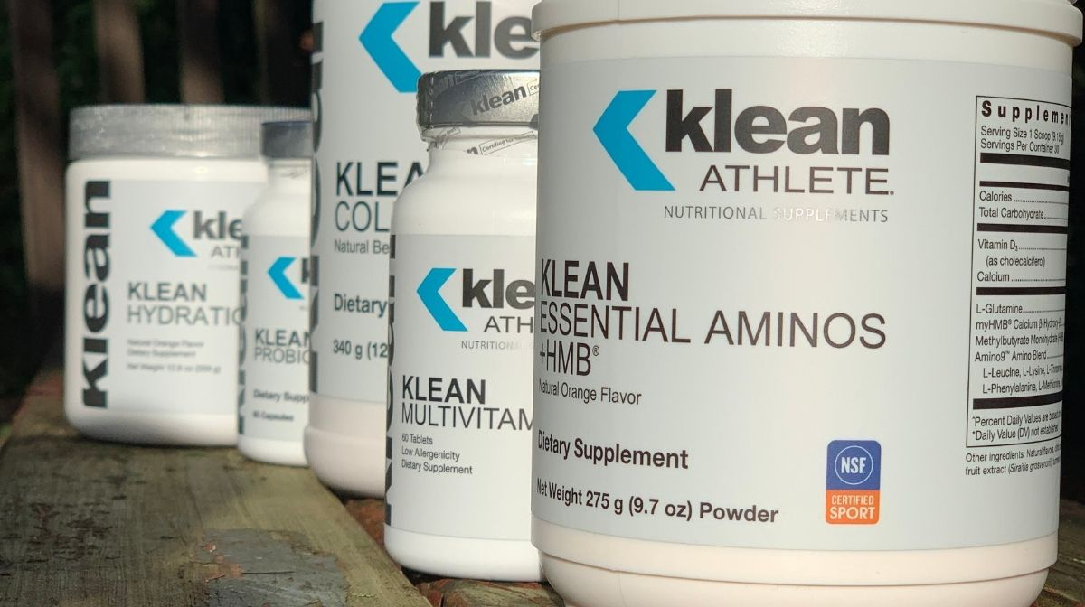 Front view shot of Klean Athlete product range