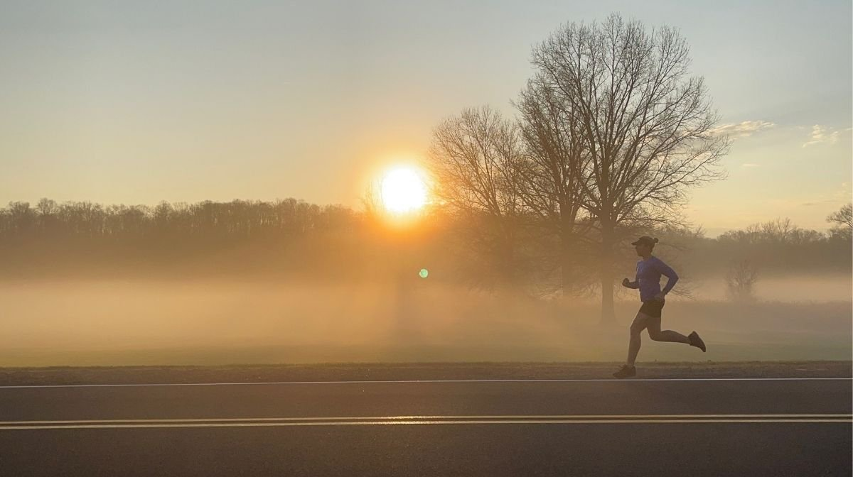 Klean Team athlete out running
