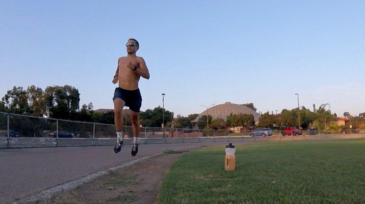 Klean Team sponsored athlete out running