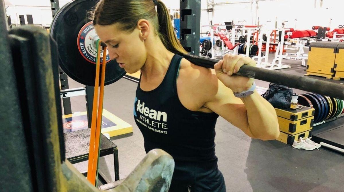 Klean Team athlete lifting weights