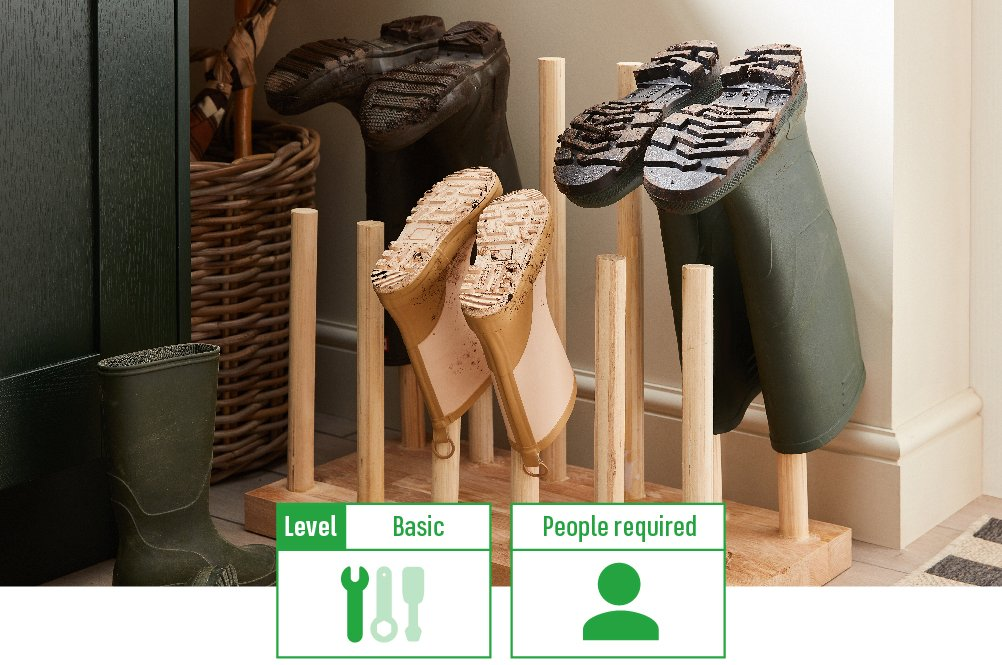 wellie boot stand