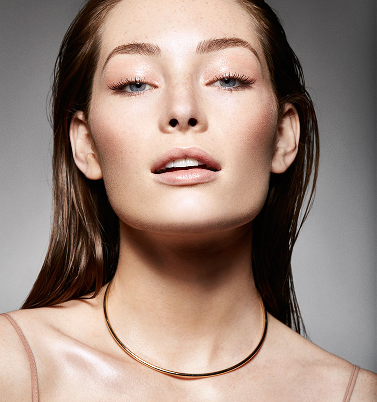 Model-portrait-with-slicked-back-hair-and-glowing-skin-2 | Dermstore Blog