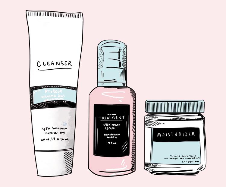 Skin care product illustration on pink background 1   Dermstore Blog