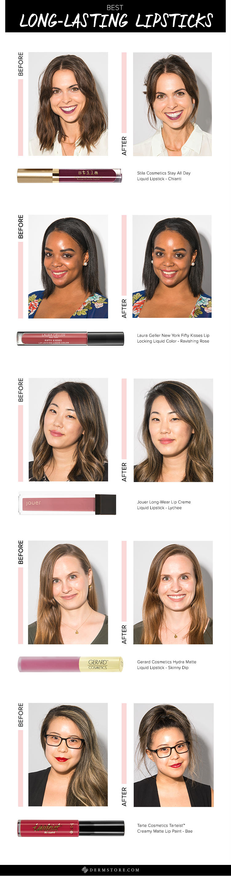 long lasting lipsticks before and after photos
