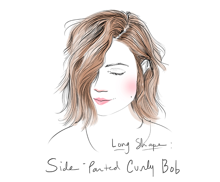 side-parted-curly-bob I Dermstore Blog