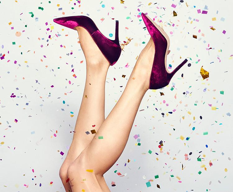 Legs and confetti