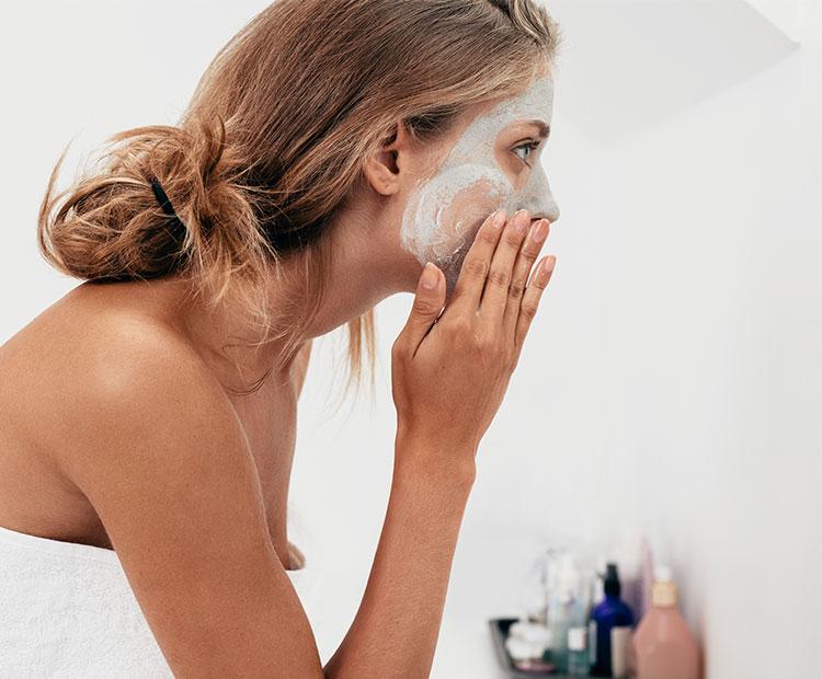 Woman washing face 1