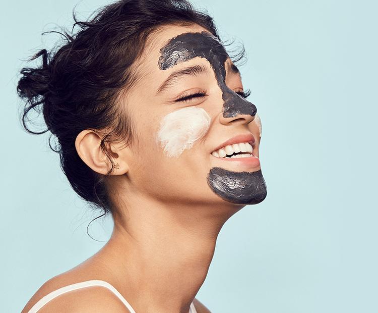 model with face mask I Dermstore Blog