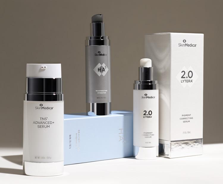 SkinMedica TNS Advanced+, HA5 and Lytera serums