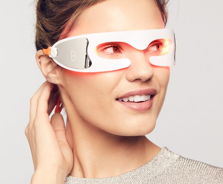 model wearing DDG eye mask