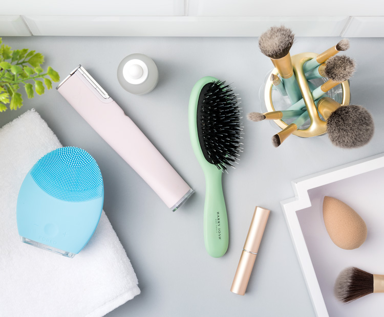 Beauty products on vanity table 1