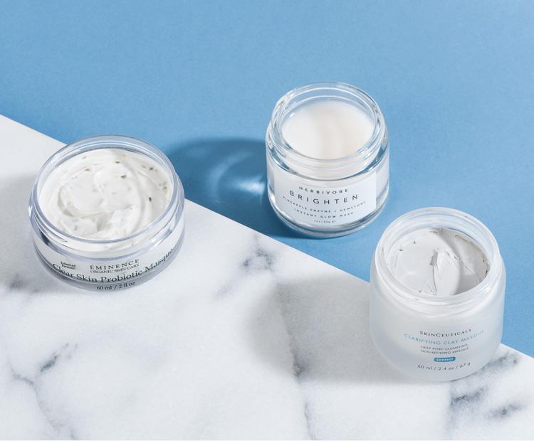 open jar of face masks