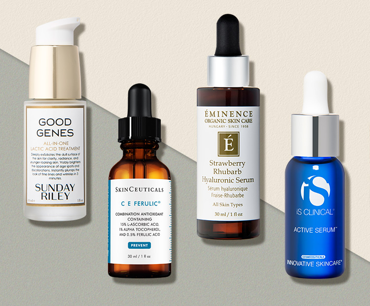 Face serums for fine lines & wrinkles