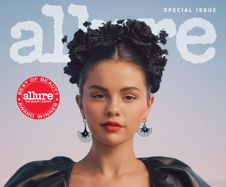 Allure magazine cover with Selena Gomez