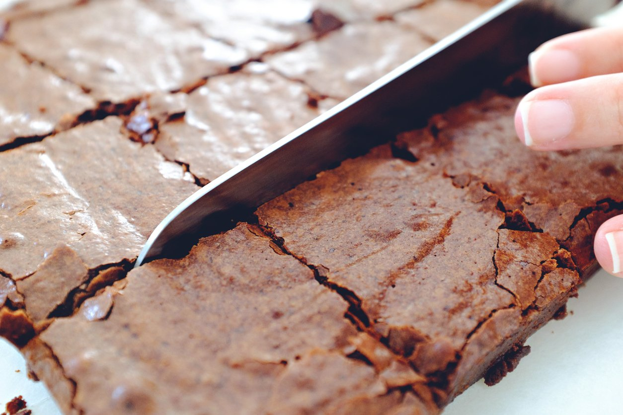 Chocolate brownies - a fail-safe Valentine's Day meal idea