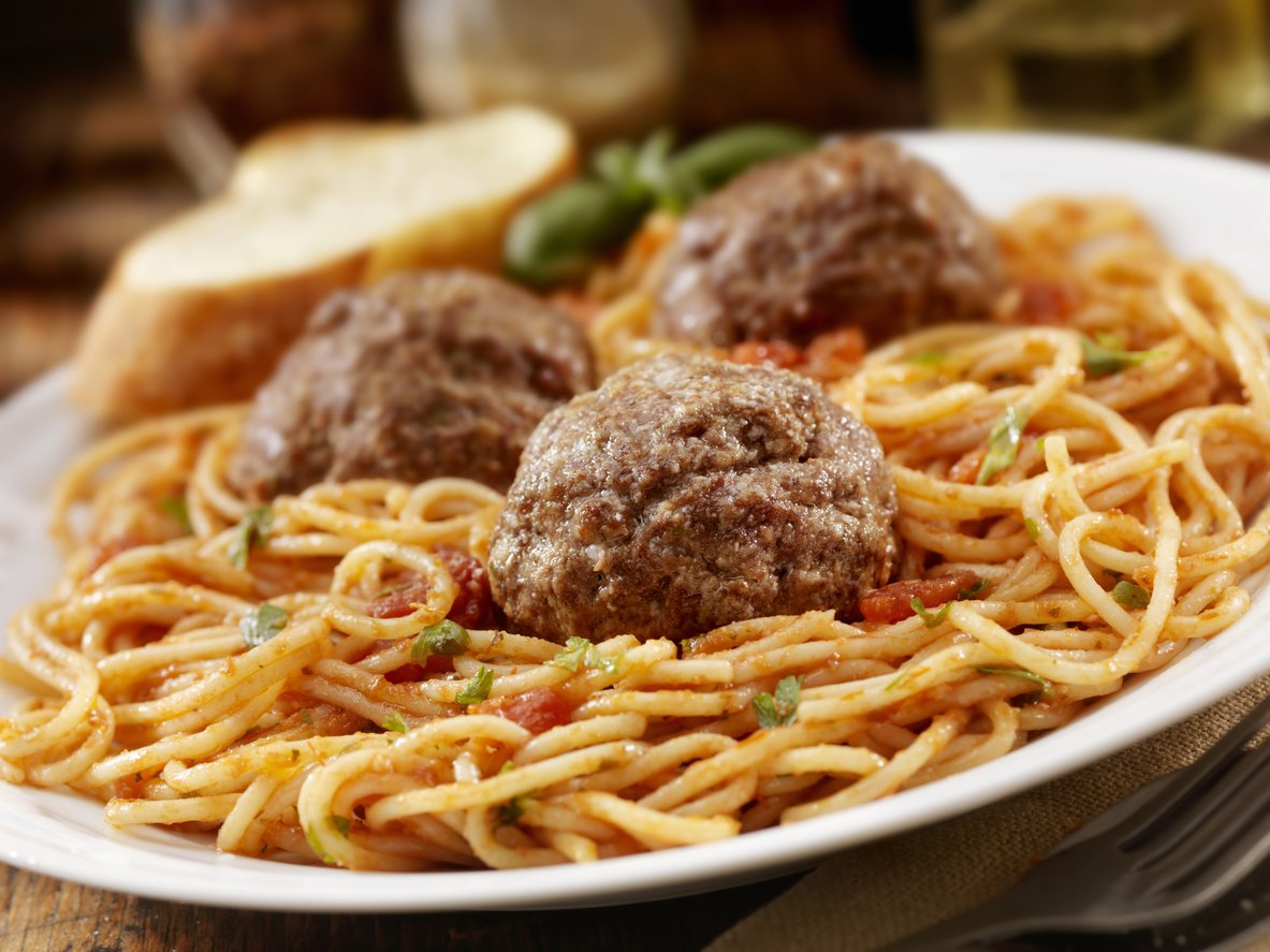 Spaghetti and meatballs - a classic Valentine's Day meal