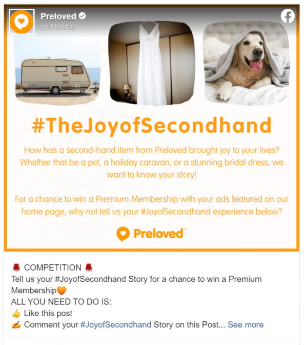 joy of second hand competition preloved