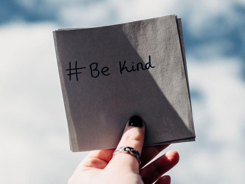 be kind for a positive mindset