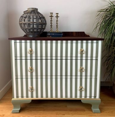 Upcycling Furniture: How to Create Perfectly Painted Stripes