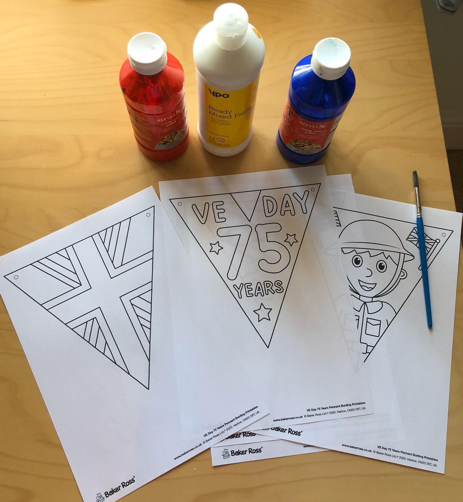 ve day bunting templates