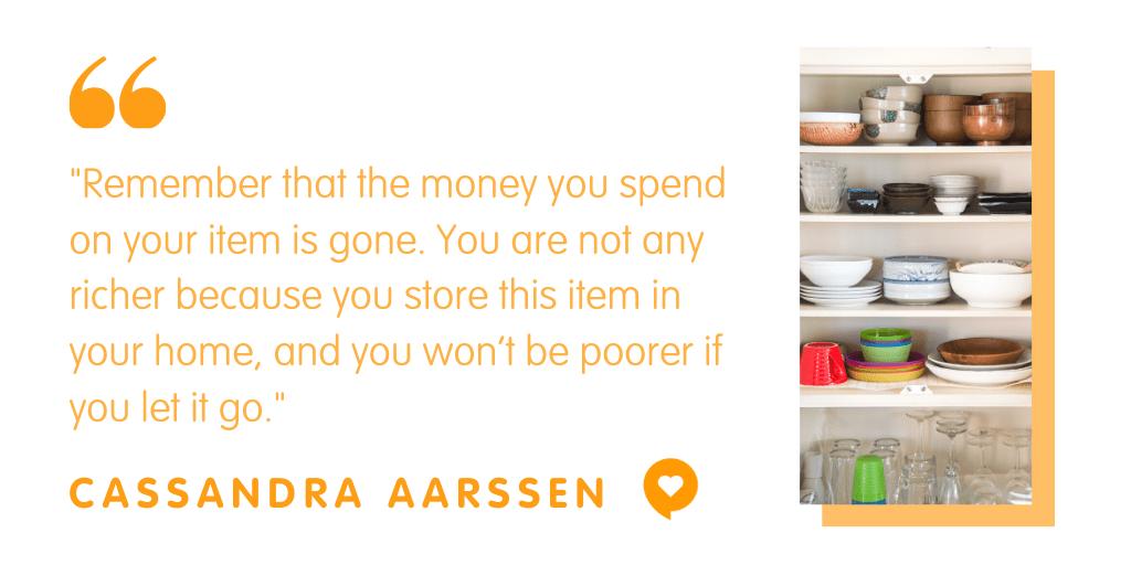 Clutter expert Cassandra Aarssen