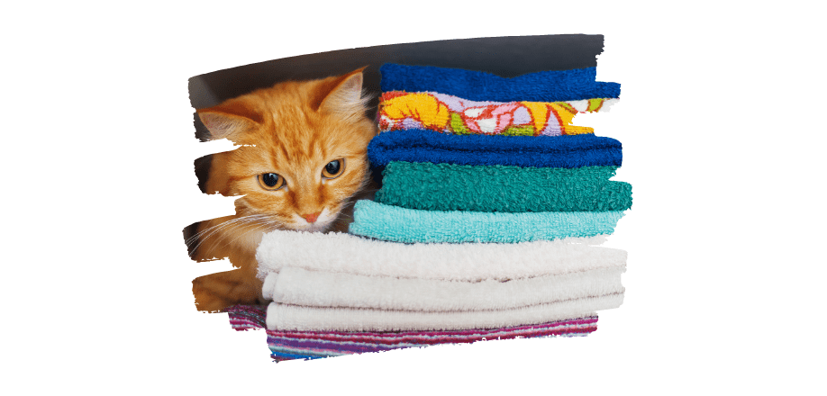 decluttered home - organise towels