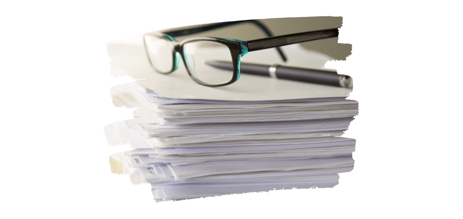 decluttered home - organise paperwork