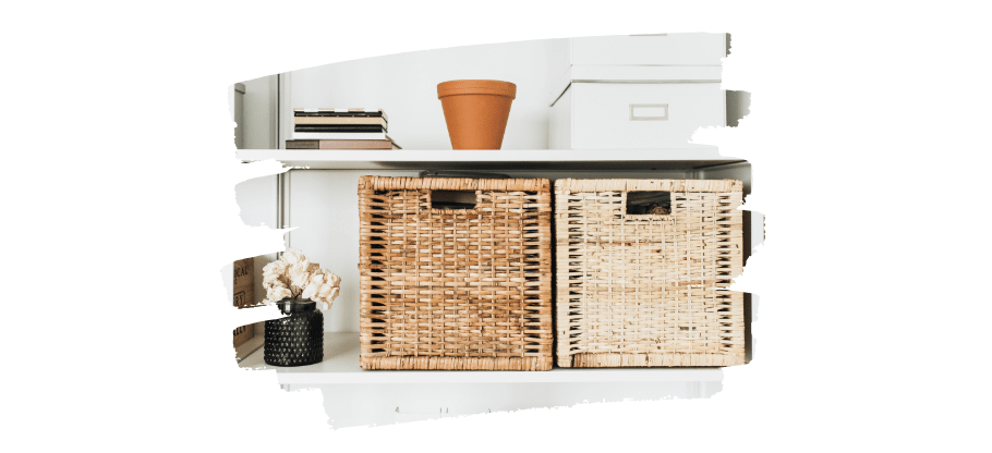 decluttered home - storage