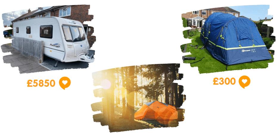 caravans and camping at preloved