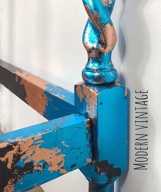 How To Apply Metal Leaf To PaintedFurniture