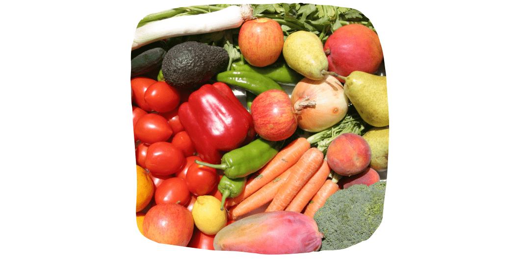 loose fruit and veg