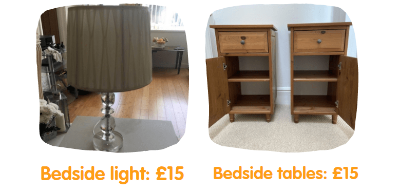bedroom items for a student
