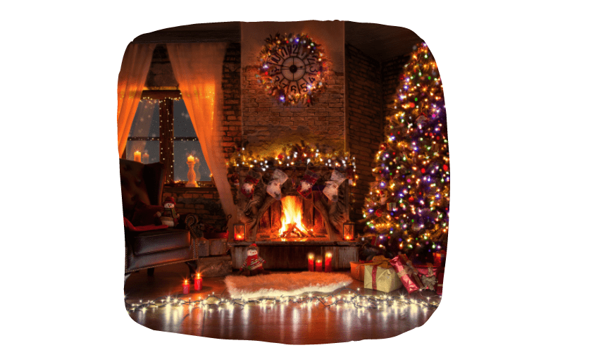 Keep Your Pets Safe During Christmas - Fireplace and candles
