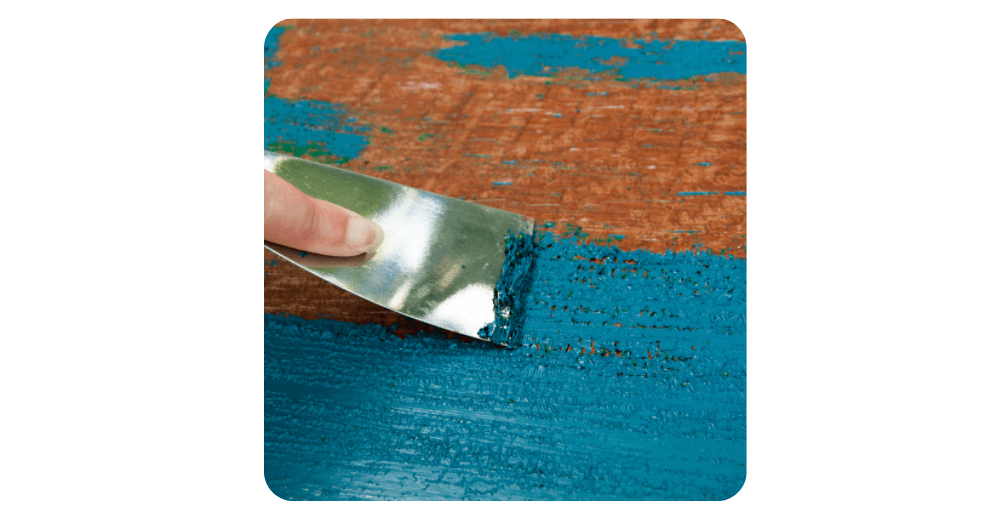 upcycling - blue paint