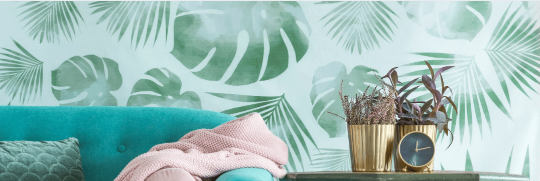 Covering a bad wall without a paintbrush - wallpaper