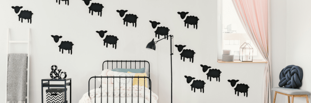 Covering a bad wall without a paintbrush - wall decals