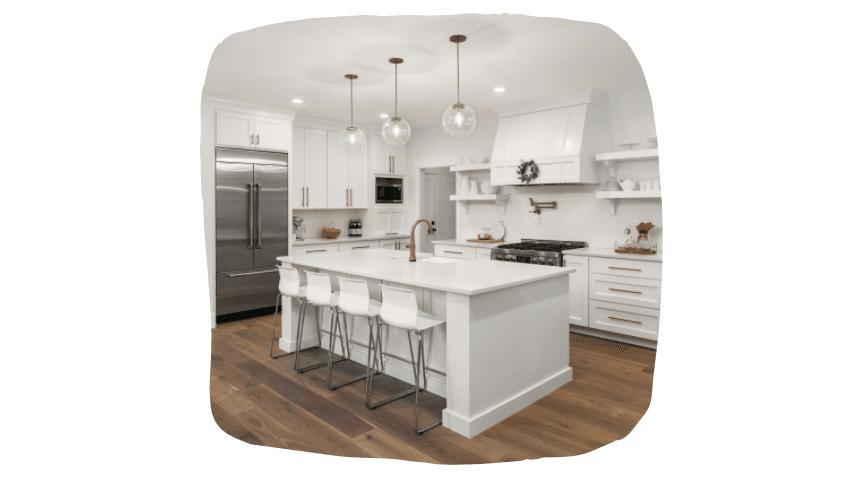 kitchen furniture: white facade