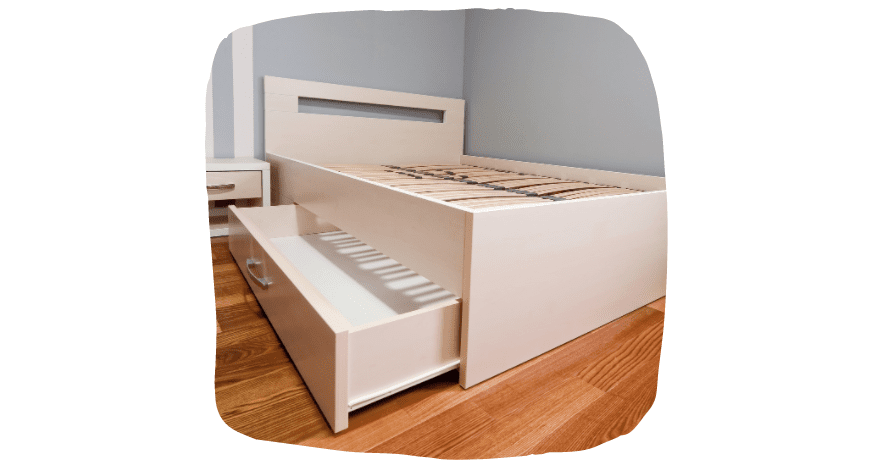 space-saving ideas for your bedroom - under bed storage