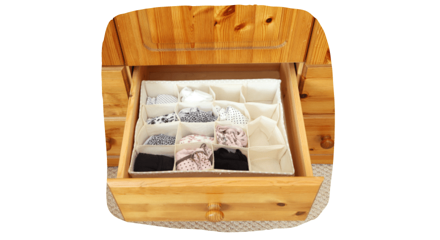 space-saving ideas for your bedroom - clothing organisers