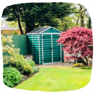 getting your garden ready for summer by clearing out the shed