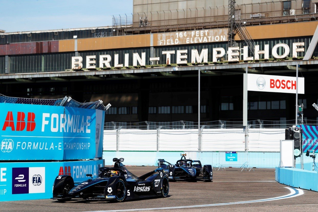 Stoffel Vandoorne achieved his first ePrix win on the Berlin Formula E track