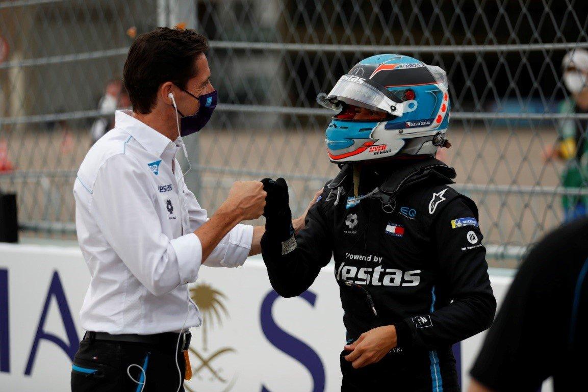 Ian James and of the Mercedes-Benz EQ Formula E team drivers
