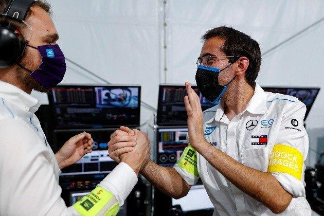 Mercedes-Benz EQ Formula E team celebrating