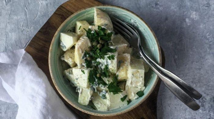 Recette de salade de pommes de terre onctueuse enrichie au collagène