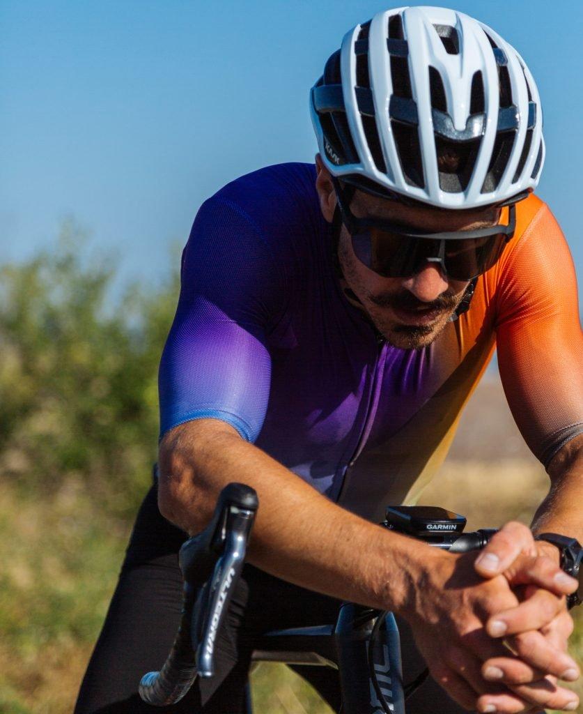 Man wearing Sportful summer cycling clothing