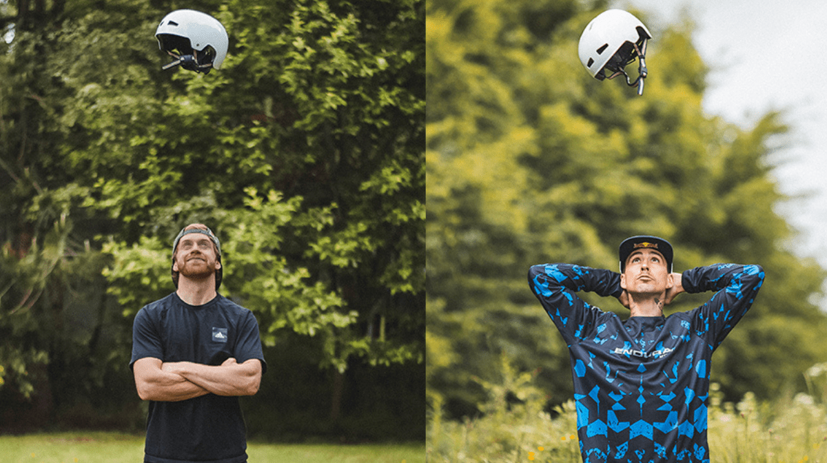 1-2-3. Three Helmet Options For Danny And Kriss