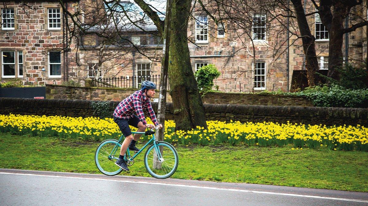A commuter wearing Endura cycling clothing