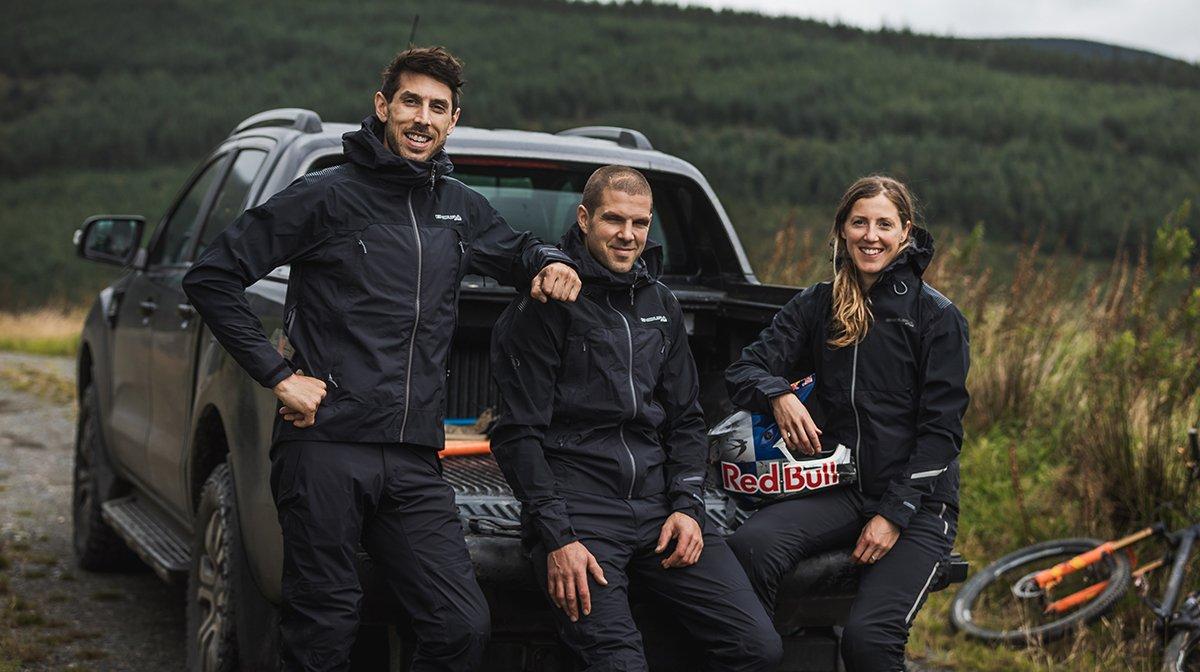 Team stand together in black Endura waterproofs