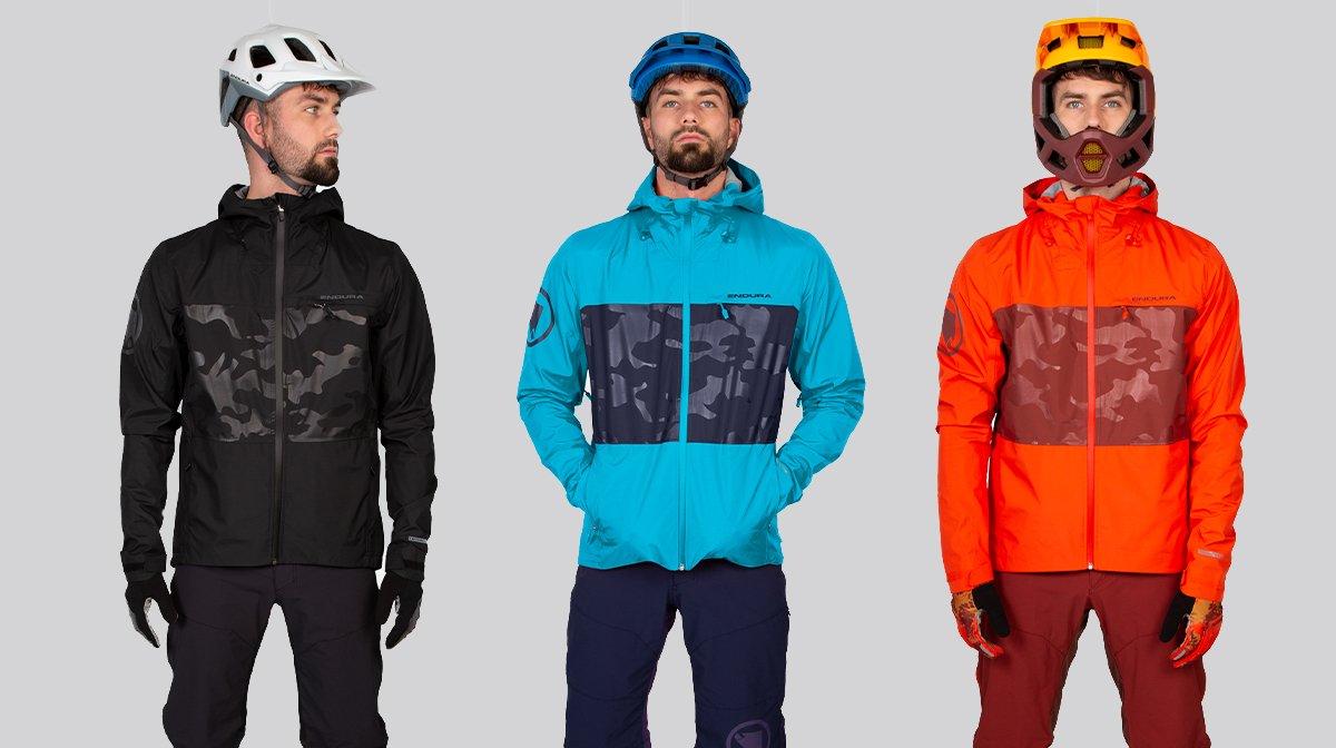 Trio stand in Endura cycling gear