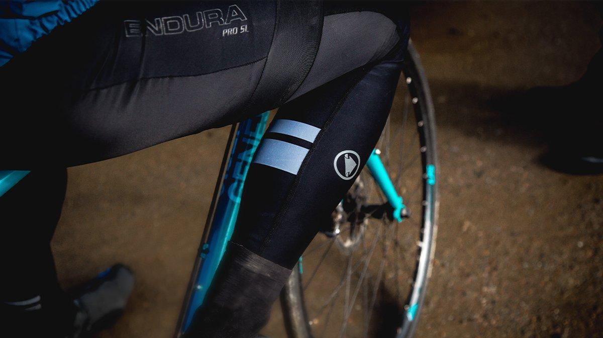 Close up of Endura riding gear